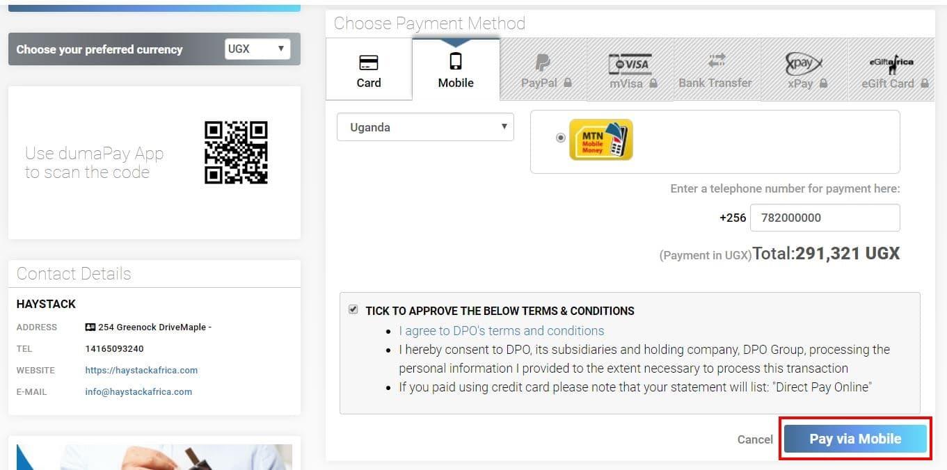MTN Mobile Money Instructions for Uganda | Haystack Africa